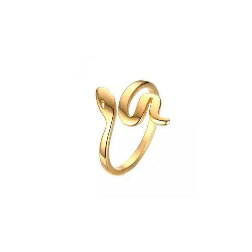 Lexie gold snake ring