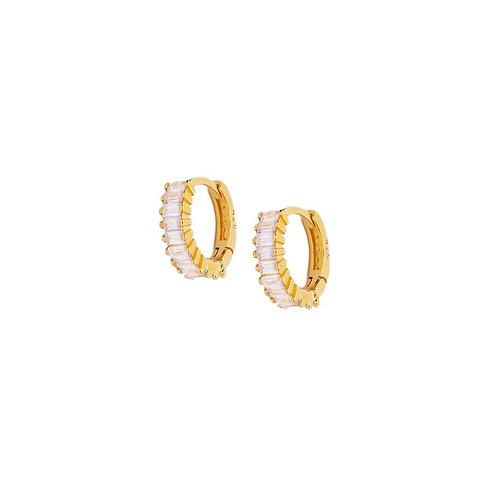 Claudia crystal hoop earrings