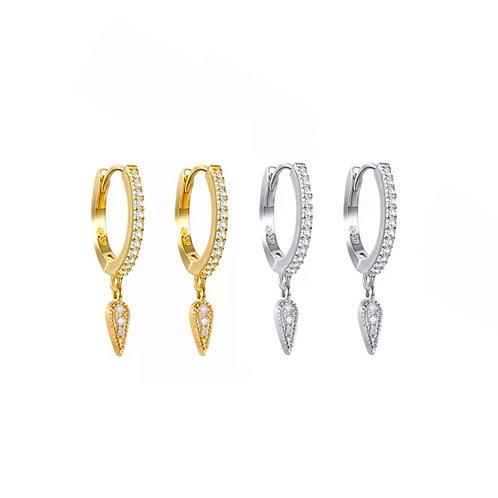 Sabrina crystal drop earrings