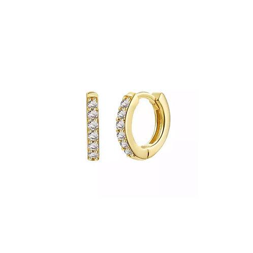 Jess mini crystal hoop earrings