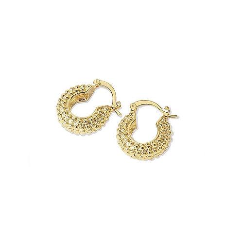 Serena textured mini hoop earrings