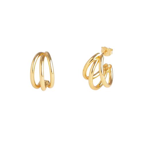 Kim mini triple layered hoop earrings