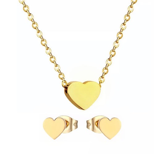 Rosie gold heart set