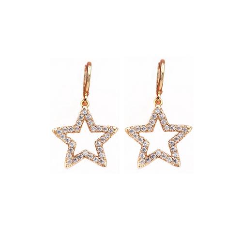 Vivian crystal star earrings