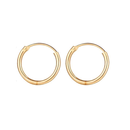 Natalie gold hoop earrings