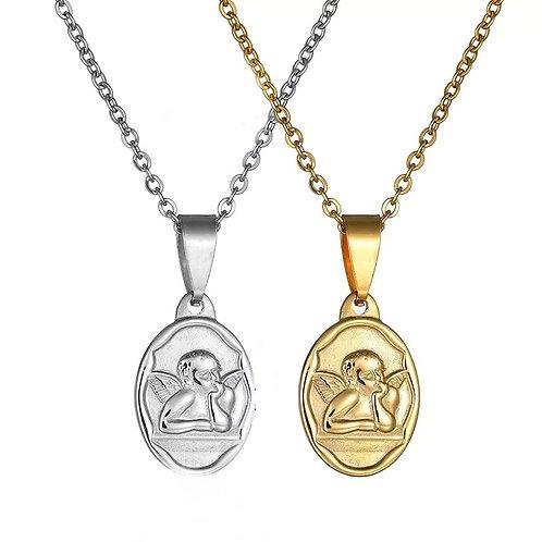 Angel pendant necklaces