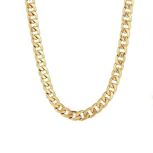 Destiny gold chunky chain necklace