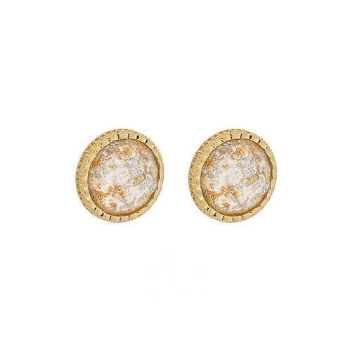 Lara large round stud earrings
