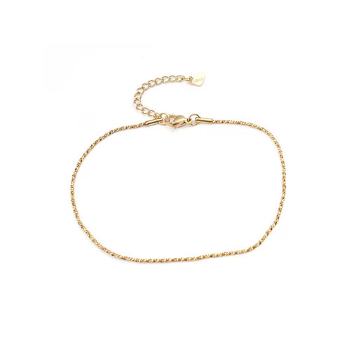 Millie twisted chain anklet