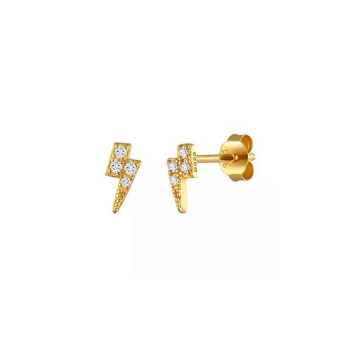 Ava lightning bolt crystal stud earrings