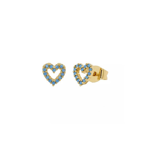 Joanna turquoise heart stud earrings