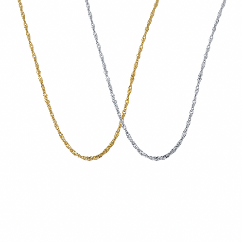 Julie classic twisted chain necklaces