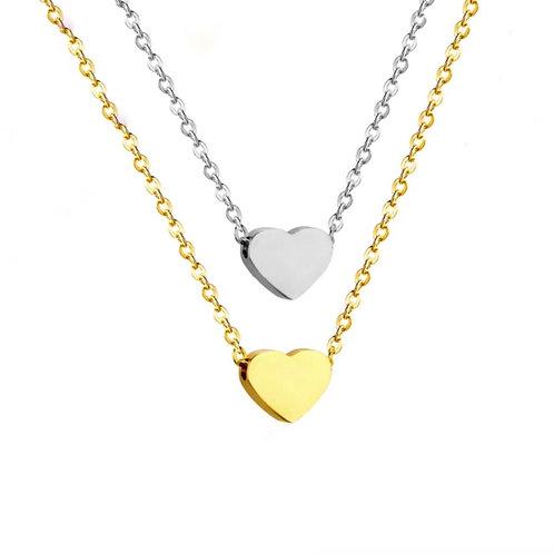 Jade heart necklaces