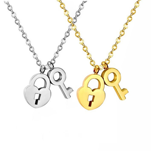 Alice heart and key necklaces