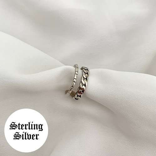 Julia layered vintage style adjustable ring