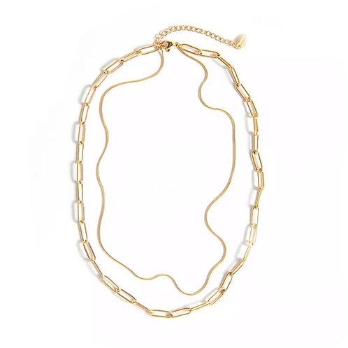 Angelina layered necklaces