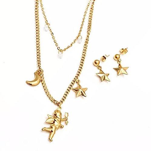 Gold angel set
