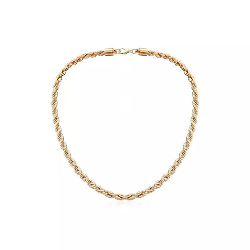 Elle gold chunky twisted neklaces