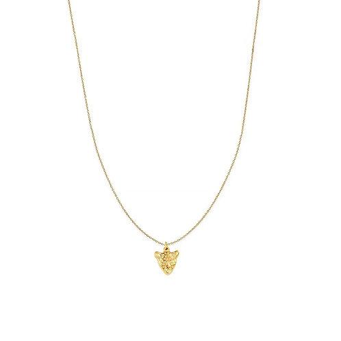 Fleur tiger pendant necklaces