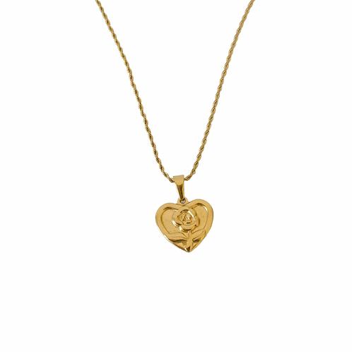 Valentina rose-heart vintage style necklaces