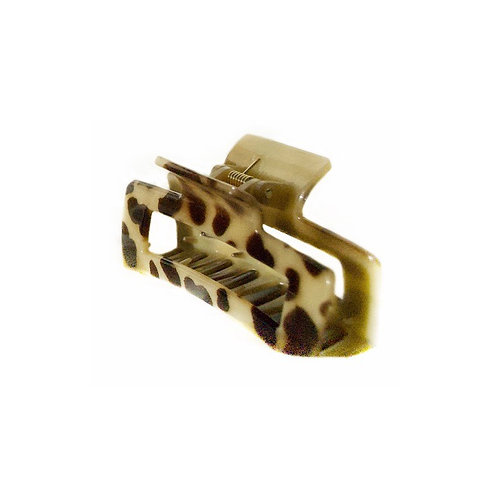 Leopard splotch claw hair clips