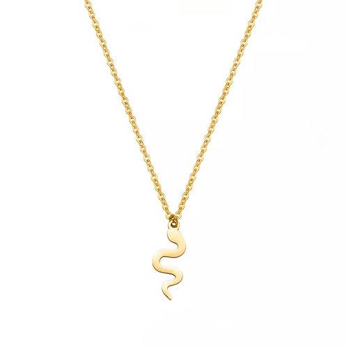 Chloe gold snake necklace