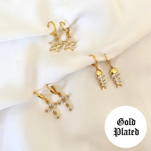 Leah crystal drop earrings