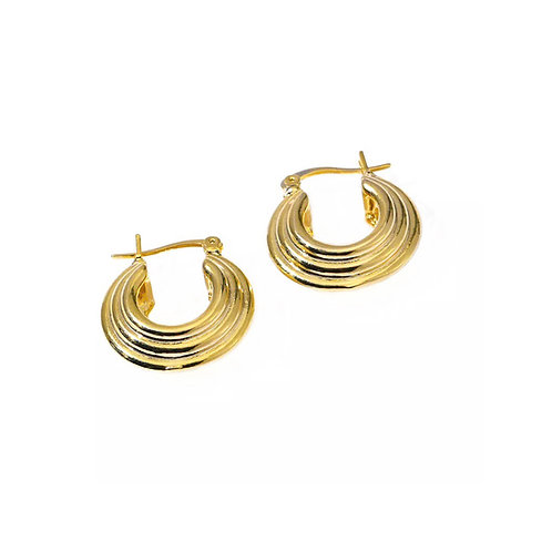 Andrea round hoop earrings