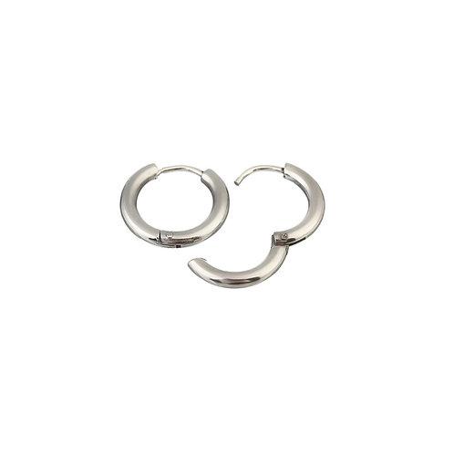 Bailey  silver hoop earrings