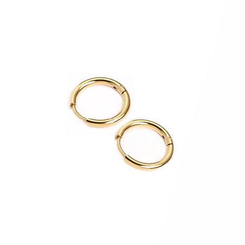 Bella gold hoop earrings