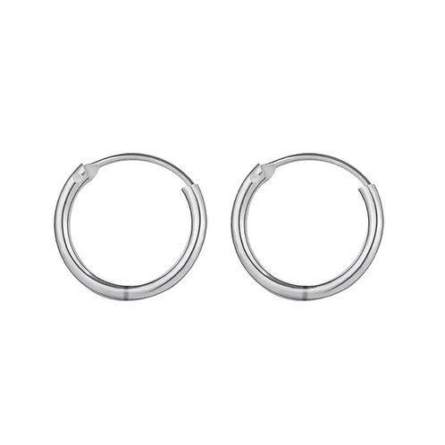 Audrey silver hoop earrings