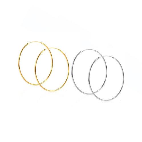 Olivia thin hoop earrings