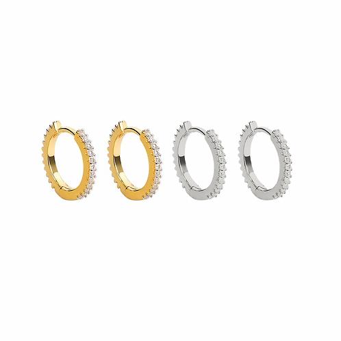 Deena crystal hoop earrings