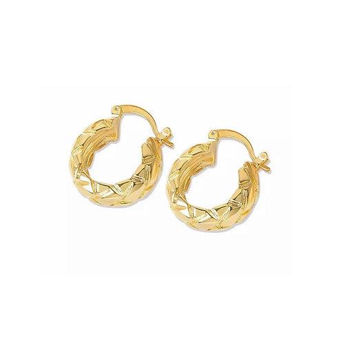 Alyssa gold detailed hoop earrings