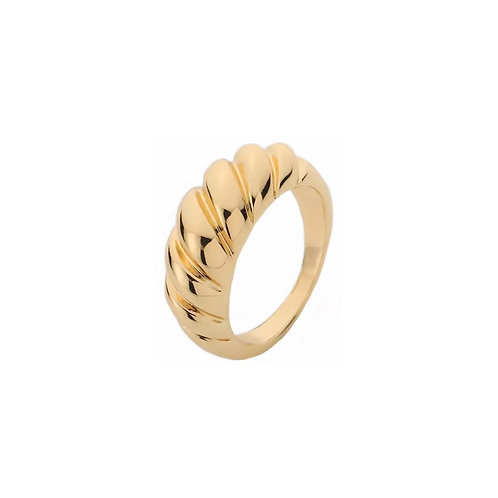 Sophie twisted gold rings