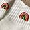 Thumbnail: Embroidered rainbow socks