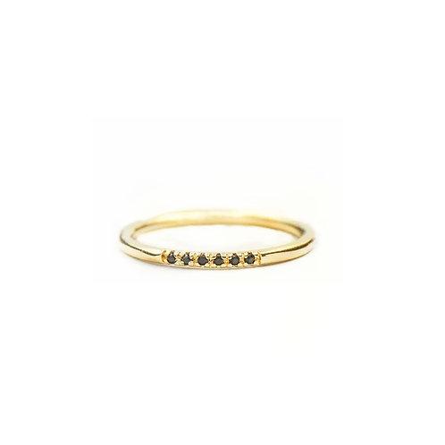 Delilah black stone rings