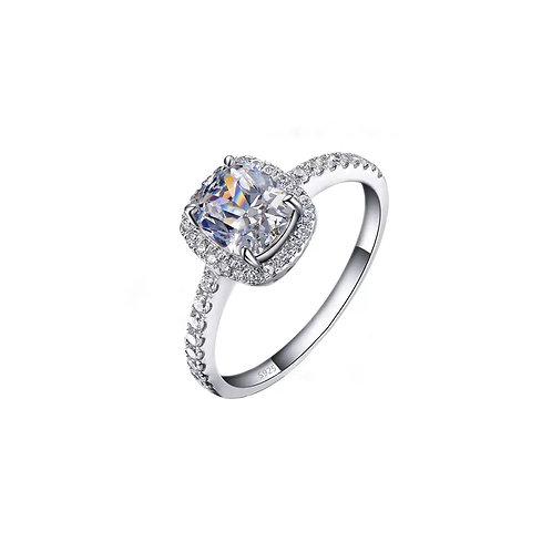 Celine crystal silver ring