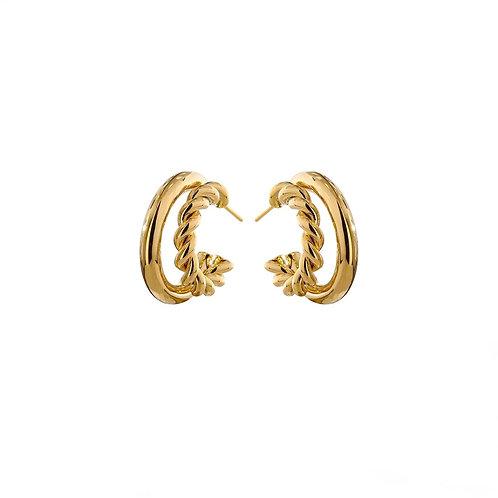 Lila double hoop earrings