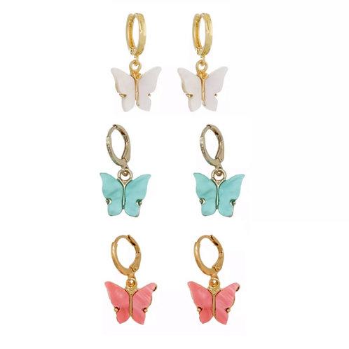 Camilla butterfly drop earrings