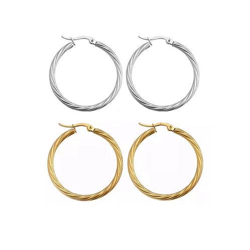 Anna twisted hoop earrings