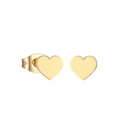 Kylie gold heart stud earrings