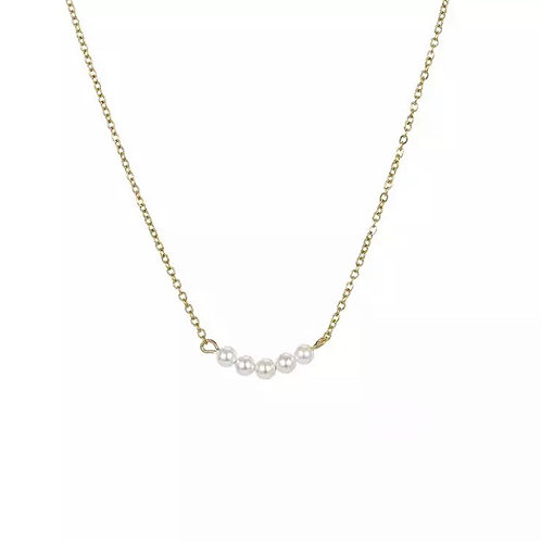 Angelica gold pearl necklace