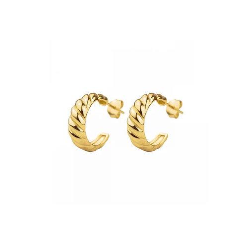 Brooke mini twisted hoop earrings
