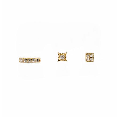 Loren gold stud earrings