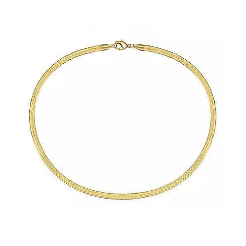 Izabella gold snake chain necklace