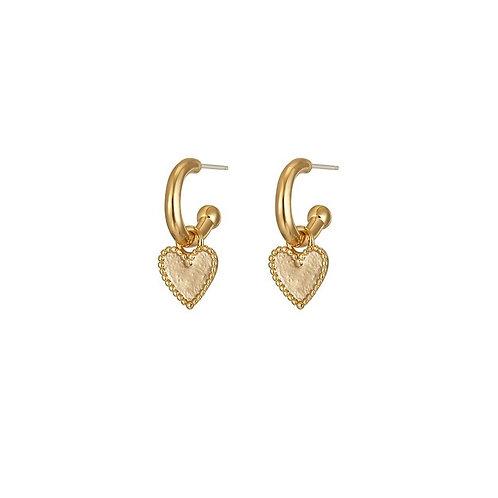 Liv heart drop earrings