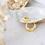 Thumbnail: Brooke mini twisted hoop earrings