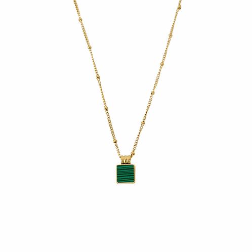 Selena green stone necklaces