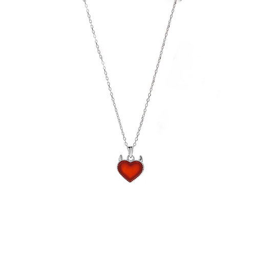 Fia red heart necklaces